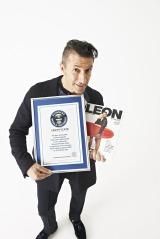 ギネス世界記録に認定されたパンツェッタ・ジローラモ (C)2014 Guinness World Records Limited