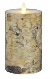 LEDキャンドル『LUMINARA』 バーチウッド Mサイズ(税抜6500円)点灯した様子