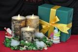 LEDキャンドル『LUMINARA』 バーチウッド クリスマスなどの雰囲気にぴったり
