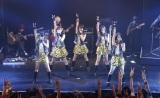 ベイビーレイズが1万人署名達成で武道館公演へ(左から)傳谷英里香(18)、大矢梨華子(17)、林愛夏(19)、渡邊璃生(14)、高見奈央(17)