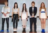 初お披露目されたlolの(左から)小見山直人、honoka、moca、佐藤友祐、hibiki (C)ORICON NewS inc.