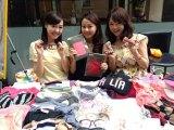 女子アナフリーマーケットを企画した長崎真友子(中央)
