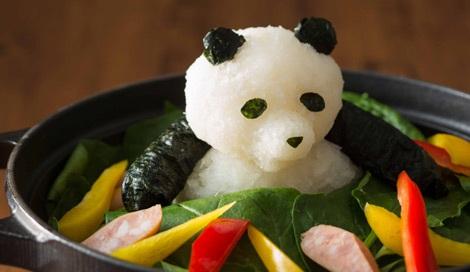 かわいいパンダも実は大根おろし! 食事が一段と楽しくなる書籍『大根おろしアート』(10月10日発売/主婦の友社)より