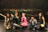 イベントに出演した(左から)Rihwa、つるの剛士、BENI、ハジ→