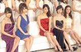 (左から)入山杏奈、柏木由紀、佐々木希、黒川智花、筧美和子 (C)ORICON NewS inc.