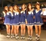 日本デビューシングル「NoNoNo」発売記念フリーライブを行ったApink(左から)ハヨン、ウンジ、ボミ、ナウン、チョロン、ナムジュ (C)ORICON NewS inc.