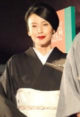 着物で歌舞伎を観劇した中谷美紀 (C)ORICON NewS inc.