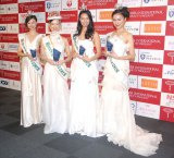 (左から)藤波優紀さん、中川愛理沙さん、松田梨奈さん、長尾春佳さん (C)ORICON NewS inc.