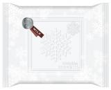 雪の結晶のモチーフを散りばめたパッケージ『メルティーキッス』(ミルク)