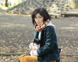 風間俊介が主演を務める映画『猫なんかよんでもこない。』にヒロイン役で出演する松岡茉優 (C)2015「猫なんかよんでもこない。」製作委員会