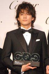 『GQ Men of the Year 2014』授賞記者会見に出席した小栗旬 (C)ORICON NewS inc.