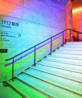 102年前の遺構階段を初ライティング〜マーチエキュート神田万世橋 開業時から残る「1912階段」(C)oricon ME inc.