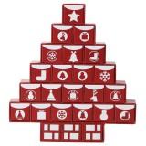 無印良品 クリスマス限定商品「アドベントカレンダーツリー24種類のお菓子 赤」(税込2500円)
