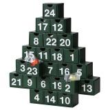 無印良品 クリスマス限定商品「アドベントカレンダーツリー24種類のお菓子 緑」(税込2500円)