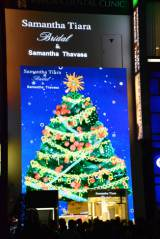 サマンサ銀座本店 店頭に全面LEDクリスマスツリー (C)oricon ME inc.