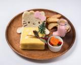 『ハローキティカフェ』で提供されるメニュー『ハローキティのサンドイッチ〜クリスマスバージョン〜』(税抜1380円)/(C)1976,2014 SANRIO CO.,LTD.