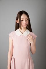 つけ襟の専門ブランド「ラ・コルテ(LA COLLETE)」モヘア挟み込み つけ襟 使用例