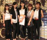 新曲『I miss you/THE FUTURE』の発売記念イベントを開催した℃-ute。写真中央が、次期ハロー!プロジェクト  総リーダー・矢島舞美。(C)De-View