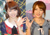 AKB48卒業を発表した高橋みなみ(右)と同期の峯岸みなみ(左) (C)ORICON NewS inc.