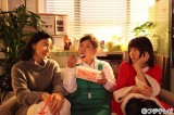 第26回フジテレビヤングシナリオ大賞受賞作『隣のレジの梅木さん』をドラマ化、12月21日深夜放送。(左から)神野三鈴、馬場園梓(アジアン)、有村架純