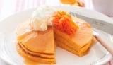 タキイ種苗が考案したニンジン入りのパンケーキ。お好みでキャロットグラッセを添えても…