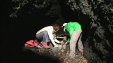 織田信成とLiLiCoが洞窟で2泊3日のサバイバル生活。12月18日、テレビ朝日系『いきなり!黄金伝説。』2時間スペシャルで放送(C)テレビ朝日
