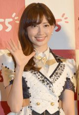 次世代トークアプリ『755』CM発表会で共演したAKB48 小嶋陽菜 (C)ORICON NewS inc.