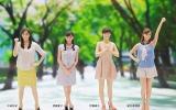 そっくりなフィギュアがお披露目(左から)中田有紀、皆藤愛子、伊藤綾子、新井恵理那