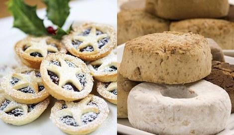 『ヨーロピアン クリスマス スイーツ ストリート』には、幸せを呼ぶクリスマススイーツも登場! ※写真はイギリスの『ミンスパイ』(左)とスペインの『ポルボロン』