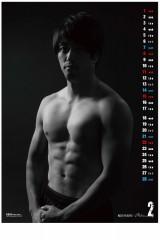 『トップリーグプレーヤーズ カレンダー2015』(税込1080円) 2月は辻埜拓也選手(NTTドコモレッドハリケーンズ)