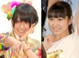 来年3月いっぱいでSKE48卒業を発表した(左から)中西優香、佐藤実絵子 (C)ORICON NewS inc.
