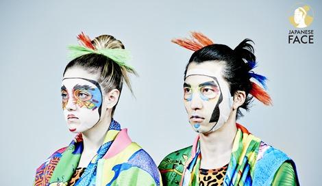 山本寛斎氏プロデュースの『ファッションフェイスパック』装着イメージ