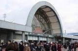 最寄駅の国際展示場駅も早朝から大混雑