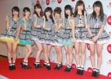 AKB48(左から)木崎ゆりあ、生駒里奈、柏木由紀、渡辺麻友、横山由依、小嶋陽菜、入山杏奈 (C)ORICON NewS inc.