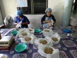 タイ伝統の本格ハーブで蒸しマッサージ『ハーブボール タイエステL』(オープン価格/紀陽除虫菊) タイ手仕事で作る