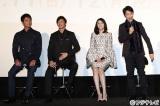 (左から)沢村一樹、玉木宏、松嶋菜々子、野村萬斎