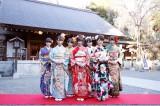 乃木坂46成人式に出席した(左から)中田花奈、永島聖羅、桜井玲香、西野七瀬、若月佑美、井上小百合、能條愛未