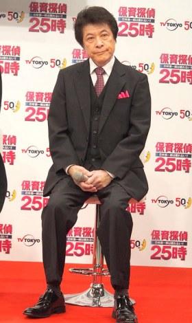 ドラマ『保育探偵25時 花咲慎一郎は眠れない!!』製作発表記者会見に出席した鹿賀丈史 (C)ORICON NewS inc.
