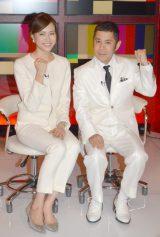 TBS系バラエティ『時間がある人しか出れないTV』(左から)笹川友里アナ、ナインティナインの岡村隆史 (C)ORICON NewS inc.