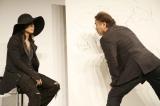 『天野喜孝×HYDE展 天命と背徳〜NIPPON EVOLUTION〜』プレス発表会に参加した(左から)HYDEと天野喜孝氏