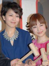 映画『アナと雪の女王』イベンに登場した(左から)松たか子と神田沙也加 (C)ORICON NewS inc.