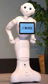 感情認識パーソナルロボット「Pepper」=サントリーコーヒー『BOSS』新CM発表会 (C)ORICON NewS inc.