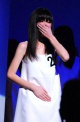 『第37回ホリプロタレントスカウトキャラバン』のグランプリに選ばれた13歳の菅野莉奈さん (C)ORICON DD inc.