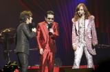3人全員が還暦を迎えた初ライブで2500公演を達成したTHE ALFEE(写真左から坂崎幸之助、桜井賢、高見沢俊彦)photo: HAJIME KAMIIISAKA