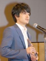 新人賞を受賞した池松壮亮=『2015年エランドール賞』授賞式 (C)ORICON NewS inc.