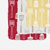 栗原はるみさんの雑貨ブランド「share with Kurihara harumi」 ふわふわタオル キッチンツール フェイスタオル(イエロー、ホワイト、レッド/税込各864円)