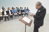 小学校の部の課題曲を作詞した日野原重明氏(C)NHK