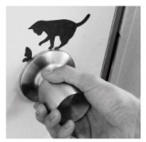 猫のシルエットで静電気を防ぐ動物型ステッカー『Wall Story+動物シリーズ』(税抜800円)