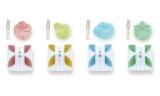 和菓子がモチーフになった、専用オイル付きの和のフレグランスアイテム『香菓』(うめ、ちどり、うさぎ、もみじ)税抜900円