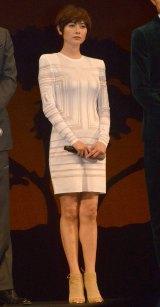 映画『風に立つライオン』完成披露試写会舞台あいさつに出席した真木ようこ (C)ORICON NewS inc.